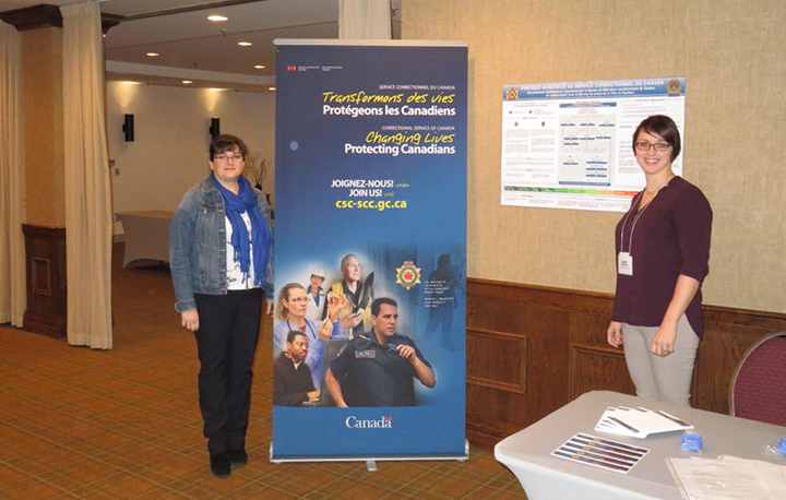 Members of the Quebec City parole office at the 38th Congrès de la Société de criminologie du Québec.