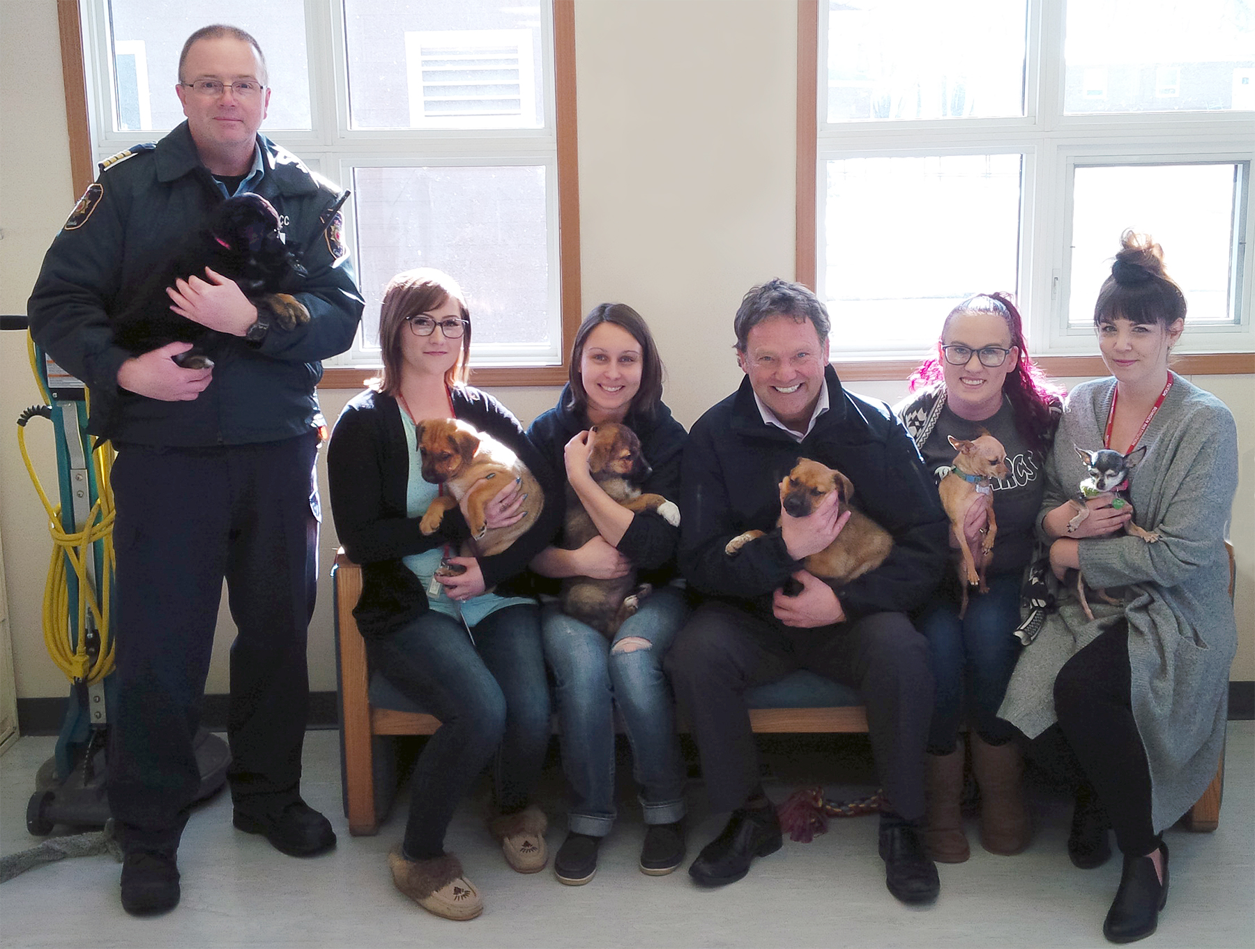 A photo of the group involved in organizing the Pet Enrichment Group