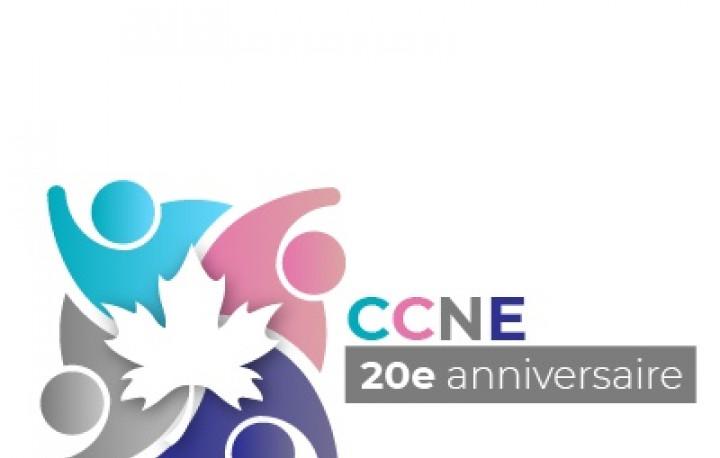logo du Comité consultatif national ethnoculturel (CCNE). 20e anniversaire.