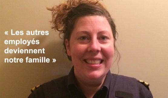 """Photo de Celeste Maltais avec le texte """"Les autres employés deviennent notre famille"""""""