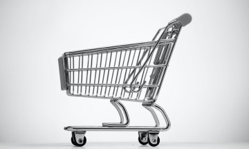 A photo of a shopping cart