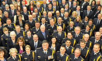 A photo of CSC's executive cadre at the Executive Strategic Leadership Symposium.