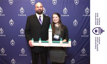 Photo of Reg Amyotte and student Nicole Laplante